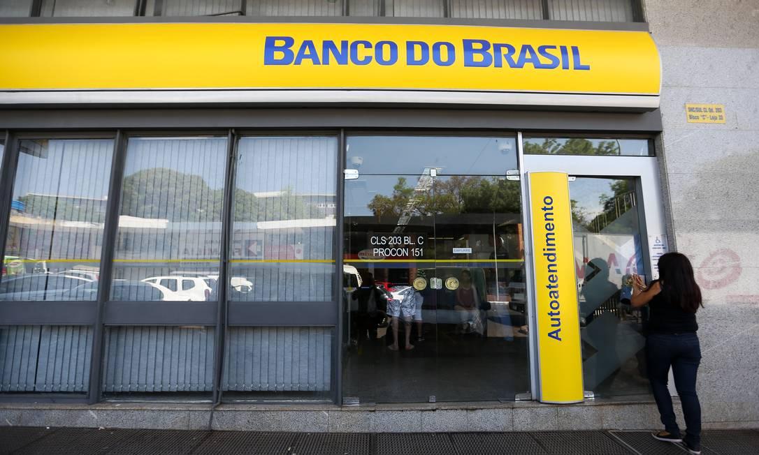 Agência do Banco do Brasil: instituição não separa operação digital da convencional Foto: Marcelo Camargo / Agência O Globo