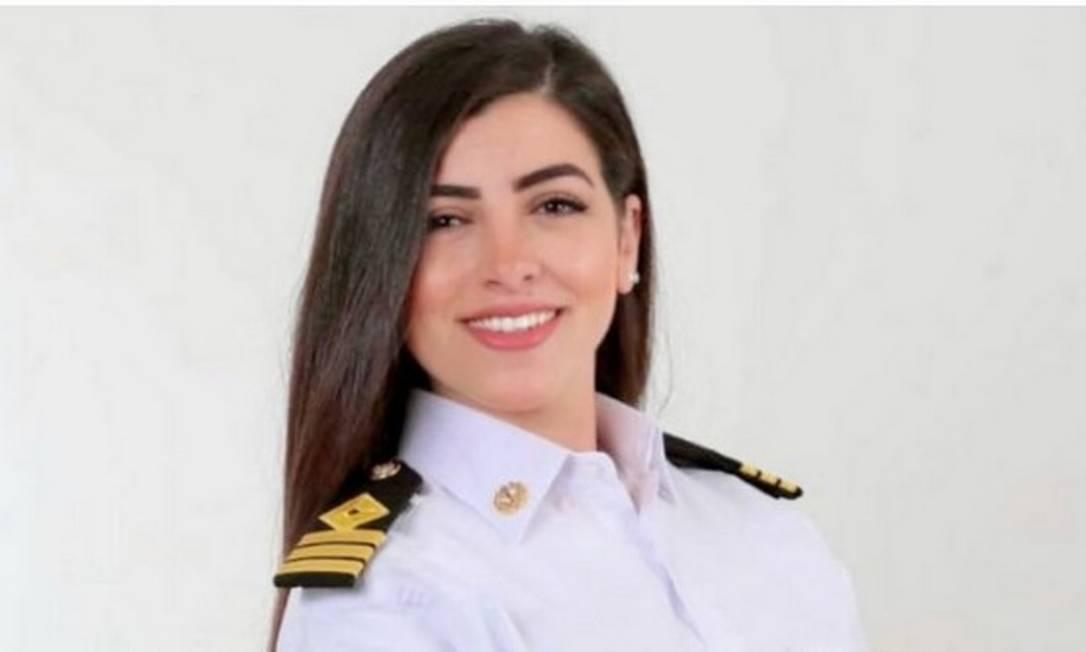 Marwa Elselehdar é a primeira capitã de navio do Egito Foto: Arquivo pessoal
