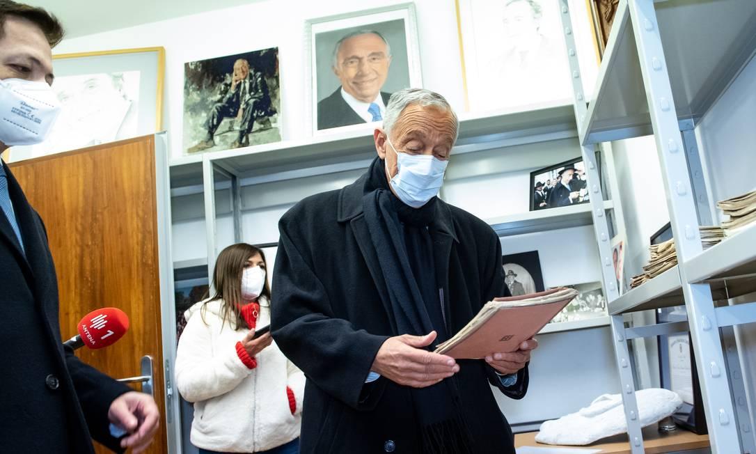 Presidente de Portugal conta que suas doações de livros ajudaram a tornar Celorico de Basto em um celeiro decultura Foto: Divulgação/Gabinete de Comunicação do Município de Celorico de Basto