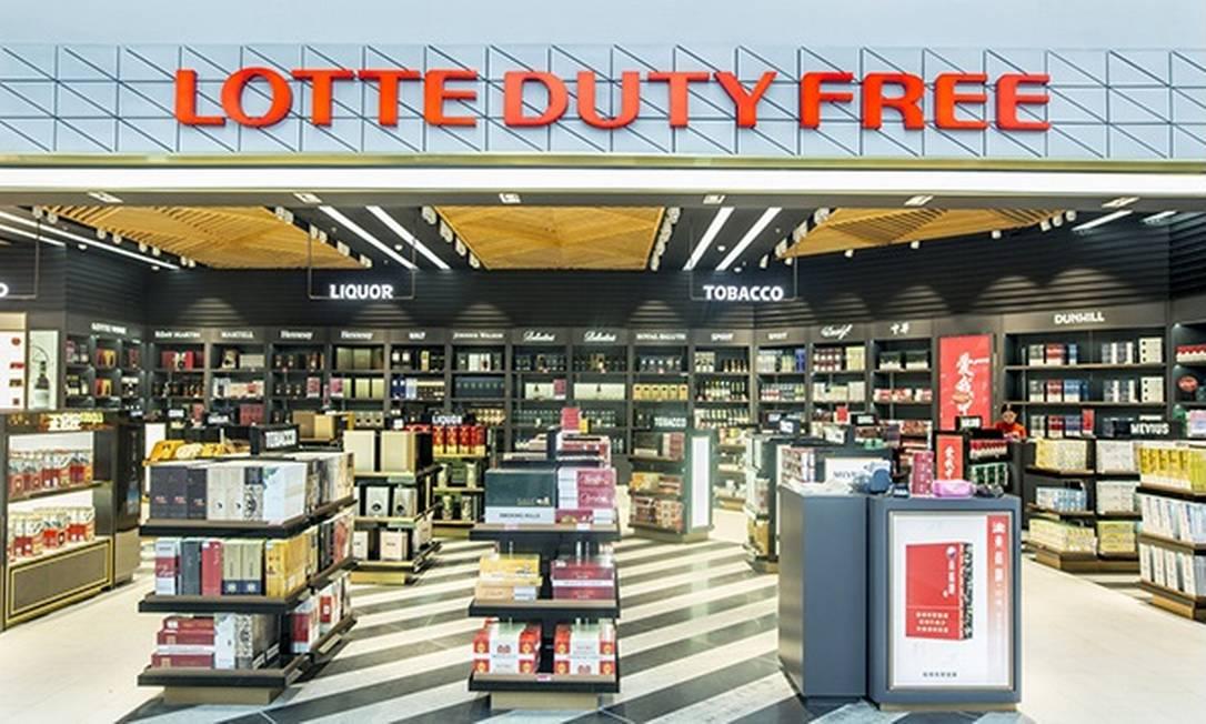 A Lotte Duty Free, na Coreia do Sul, está fretando voos para quem comprar em suas lojas Foto: Divulgação