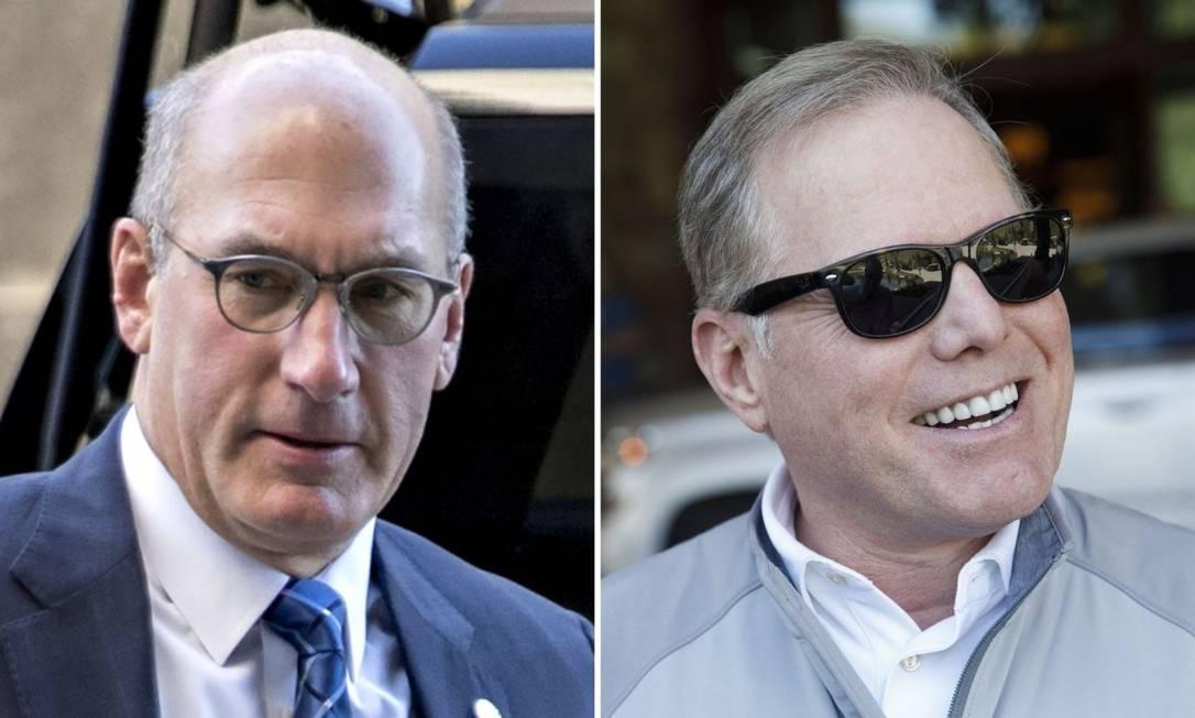 JohnStankey, da AT&T, e David Zaslav, do Discover, os dois nomes por trás da fusão Foto: Bloomberg