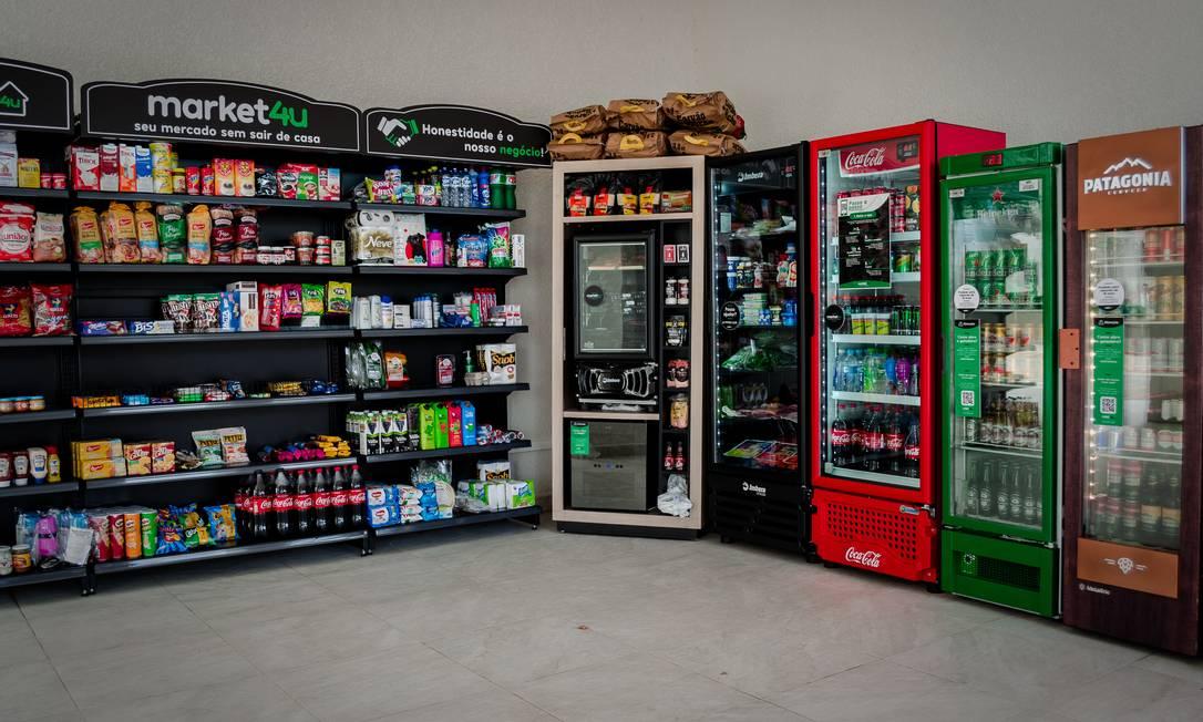 Loja da Market4u: segundo o CEO Eduardo Cordova, preços são menores que os de lojas de conveniência Foto: Divulgação