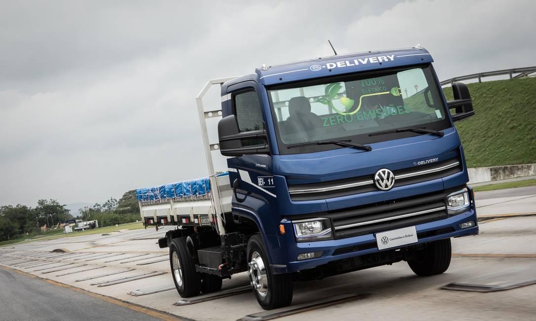 Caminhão elétrico da Volkswagen produzido no Brasil, chamado e-Delivery Foto: Divulgação