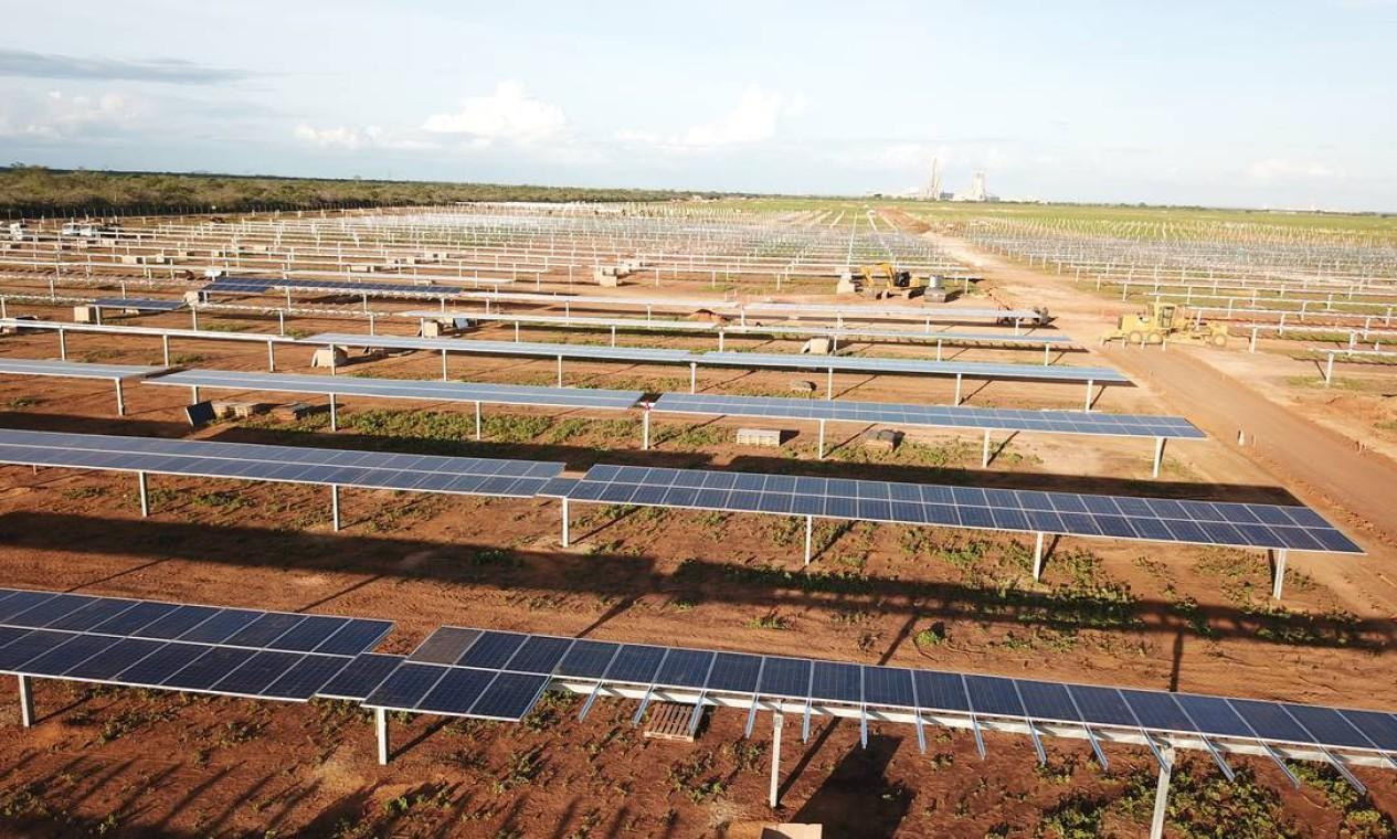Planta solar da Equinor no Ceará Foto: Divulgação