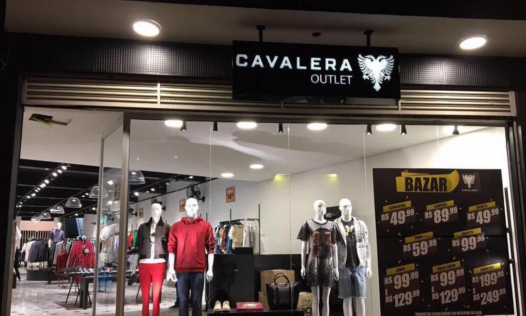 Fachada da loja Cavalera, que entrou com pedido de recuperação judicial neste mês Foto: Agência O Globo