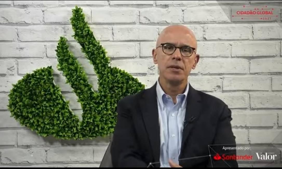 O atual presidente do Santander Brasil, Sérgio Rial, passará a ser presidente do conselho de administração do banco Foto: Reprodução/YouTube