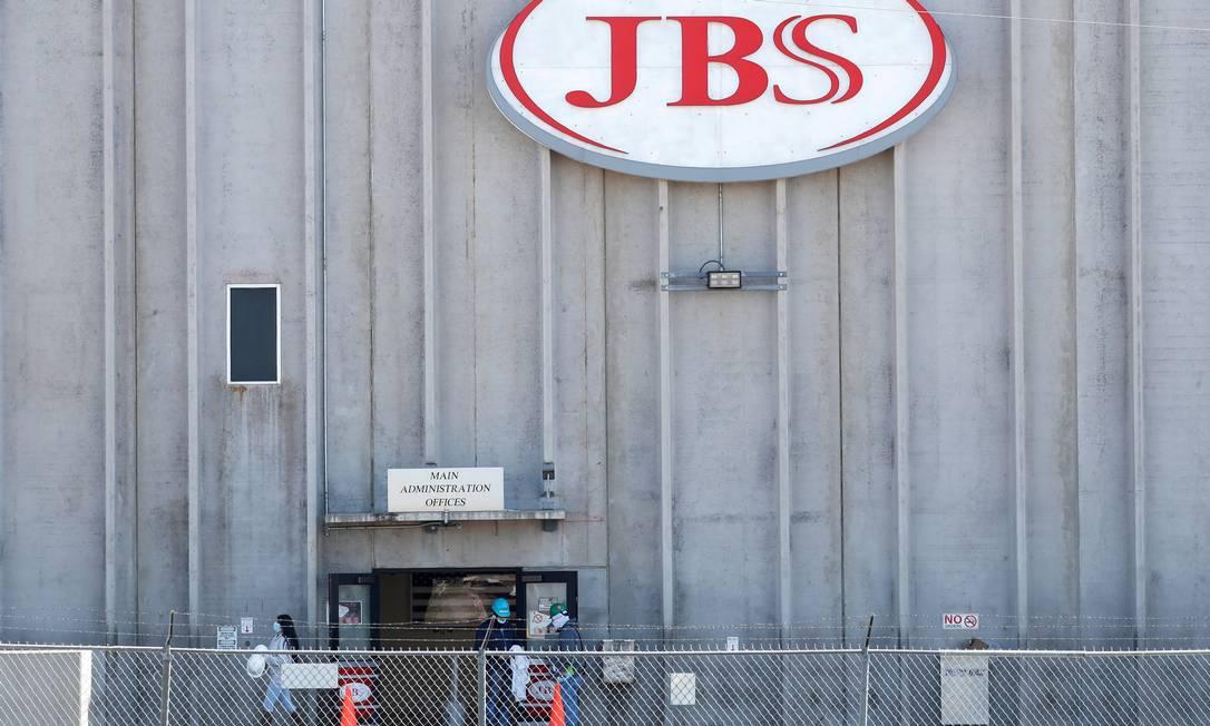 Fábrica da JBS no Colorado, nos EUA, que sofreu ataque de hackers Foto: Shannon Stapleton / Reuters