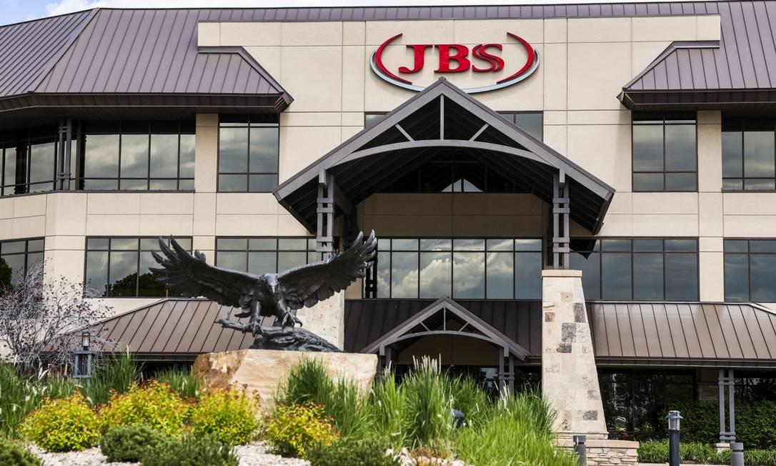 Fachada de fábrica da JBS no Colorado Foto: Michael Ciaglo / Bloomberg