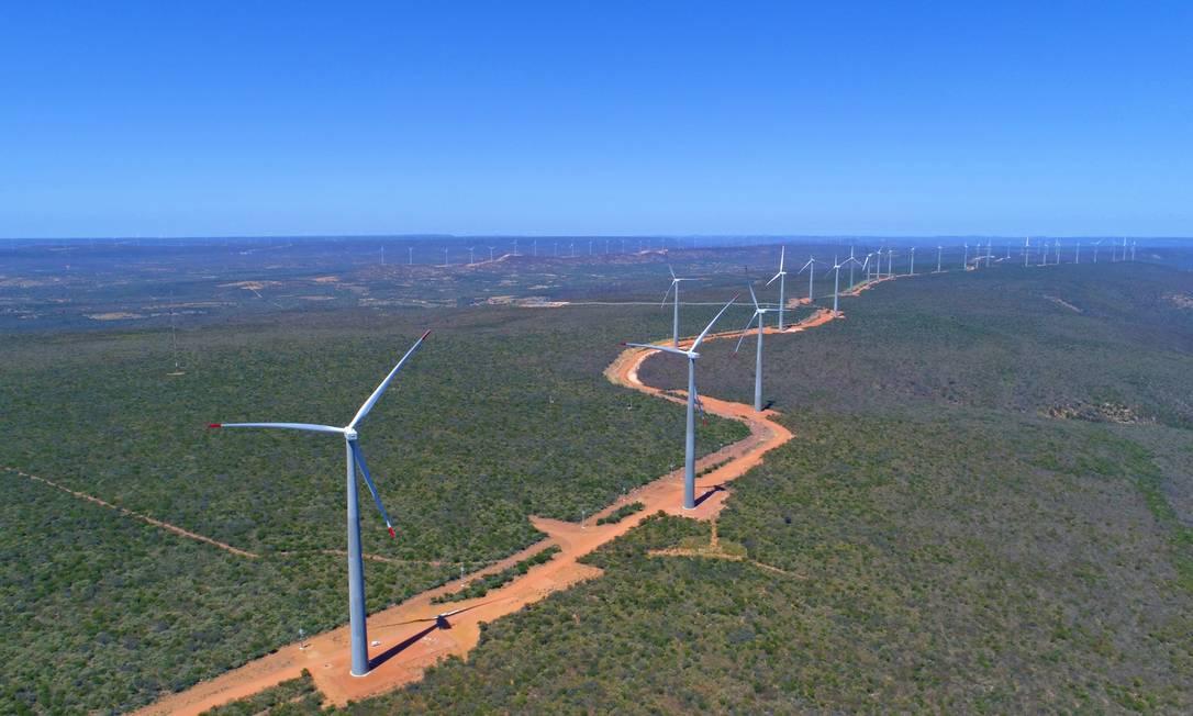 Enel Green Power Brasil iniciou hoje a operação comercial do parque eólico Lagoa dos Ventos, no Piauí Foto: Divulgação