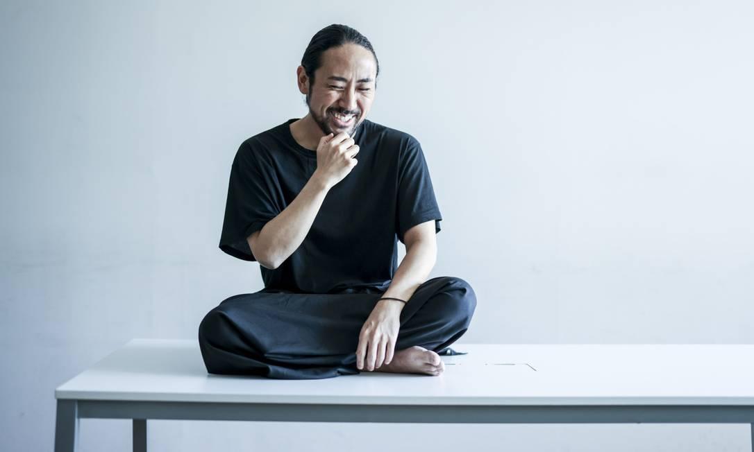 Kazuma Ieiri na sede da Campfire, em Tóquio Foto: Shoko Takayasu / Bloomberg