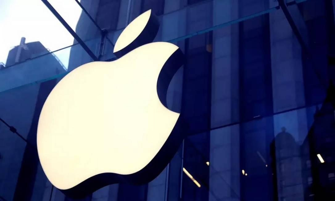 logo da Apple em loja da marca fabricante do iPhone Foto: Reuters