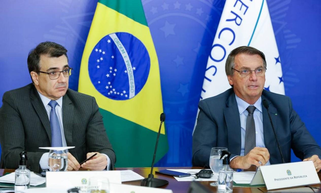 LVIII Cúpula de Chefes de Estado do Mercosul, por videoconferência. Brasil assumiu a presidência pro-tempore em meio a uma crise no bloco Foto: Alan Santos / Agência O Globo