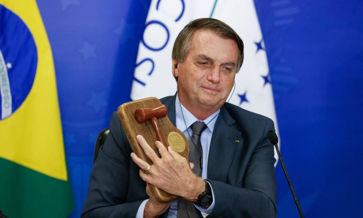 Presidente Jair Bolsonaro assume a presidência pró-tempore do Mercosul Foto: Alan Santos / Agência O Globo