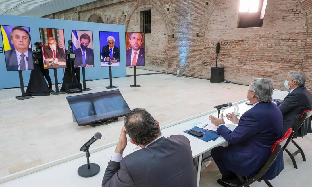 Cúpula do Mercosul terminou sem declaração final Foto: Esteban Collazo / AFP