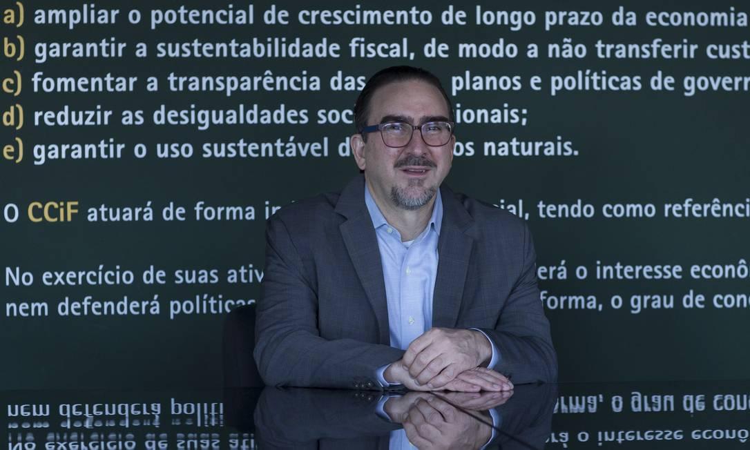 Para Bernardo Appy, reforma do IR, proposta pelo governo, não diminui desigualdade Foto: Marcos Alves / Agência O Globo