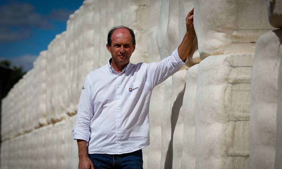 Luiz Carlos Bergamaschi, um dos fazendeiros que chegou à região nos anos 1980 e progrediu com o cultivo de commodities como o algodão Foto: Pablo Jacob / Agência O Globo