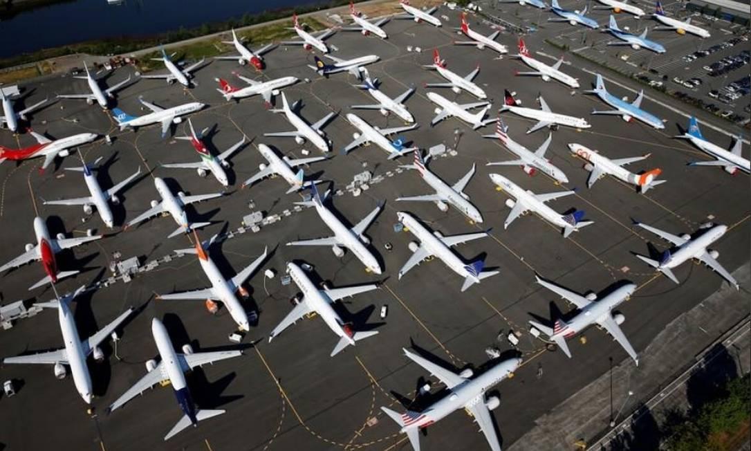 O Boeing 737 Max foi proibido de voar em março de 2019 por 20 meses após dois acidentes fatais na Indonésia e na Etiópia. Foto: Reuters