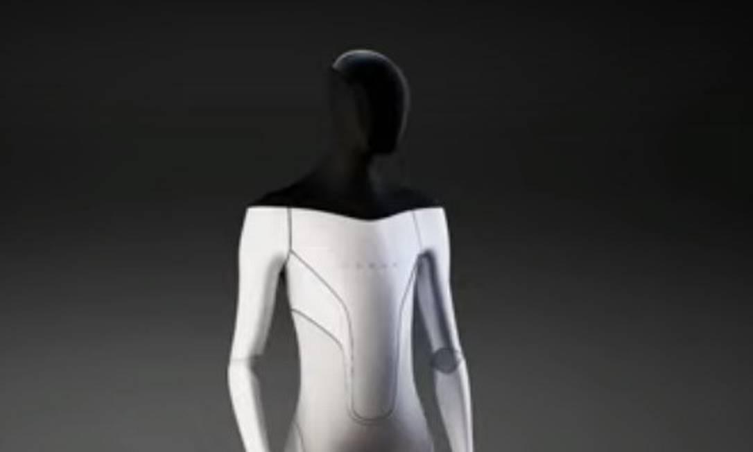 Tesla apresenta seu projeto de robô humanoide no Tesla AI Day, dedicado a projetos da empresa que usam inteligência artificial Foto: Reprodução