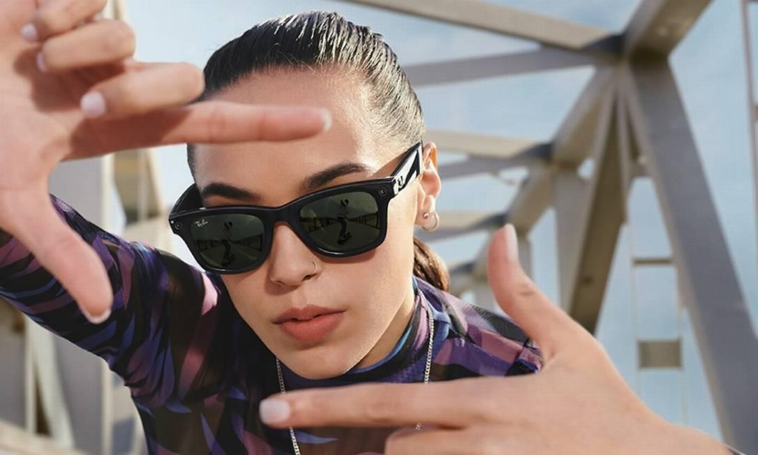 Ray-Ban Stories, novo óculos inteligente do Facebook em parceria com a Ray-Ban Foto: Divulgação/Facebook