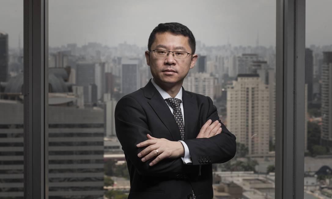 'Decisão do Brasil sobre 5G será referência para outros países', diz presidente da Huawei no Brasil, Sun Baocheng Foto: Bruno Santos / Divulgação