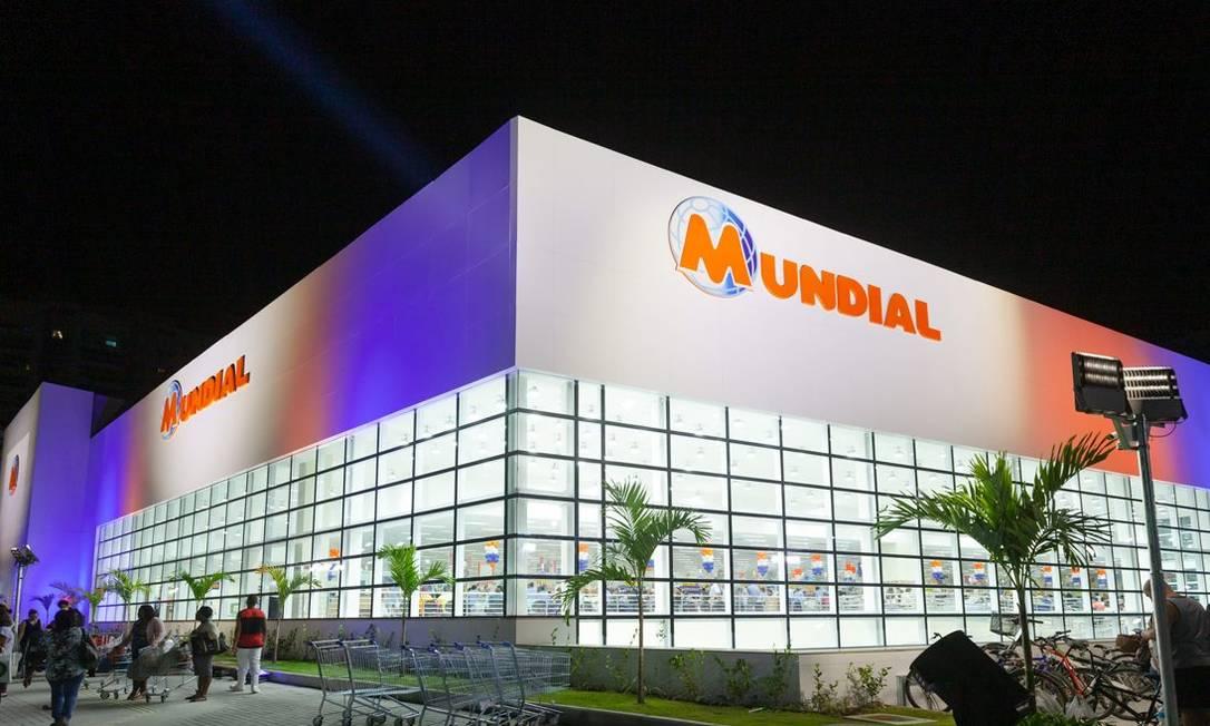 Facha do Supermercado Mundial em Niterói Foto: Reprodução