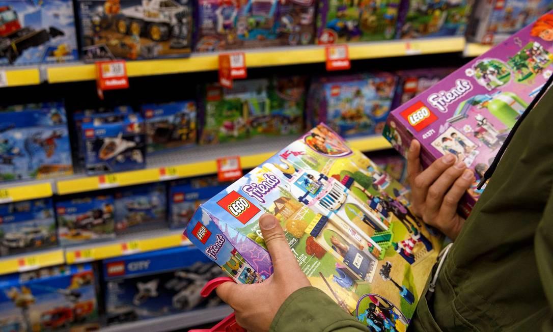 Lego tem vendas e lucro históricos no primeiro semestre Foto: Patrick T. Fallon / Bloomberg