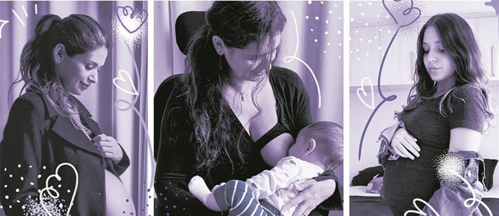 Maternidade tem deixado de ser tabu, mas mudança ainda é restrita às multinacionais e cargos executivos Foto: Arte O Globo