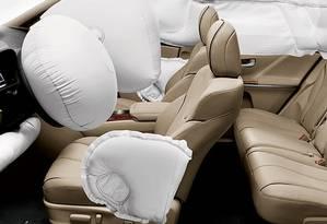Airbag da marca japonesa pode explodir durante colisão Foto: DIVULGAÇÃO