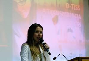 No seminário, Michelle Mello, diretora-adjunta da ANS, explicou que o objetivo da ferramenta é permitir o compartilhamento de conhecimentos e dar suporte para a tomada de decisões Foto: Pablo Jacob / Agência O Globo