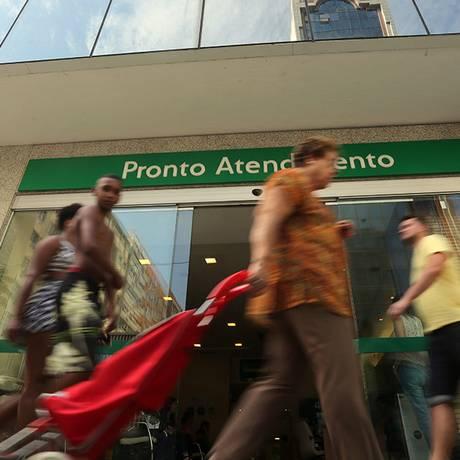 Pronto Atendimento da Unimed na Rua Siqueira Campos. Foto: Custódio Coimbra / Agência O Globo