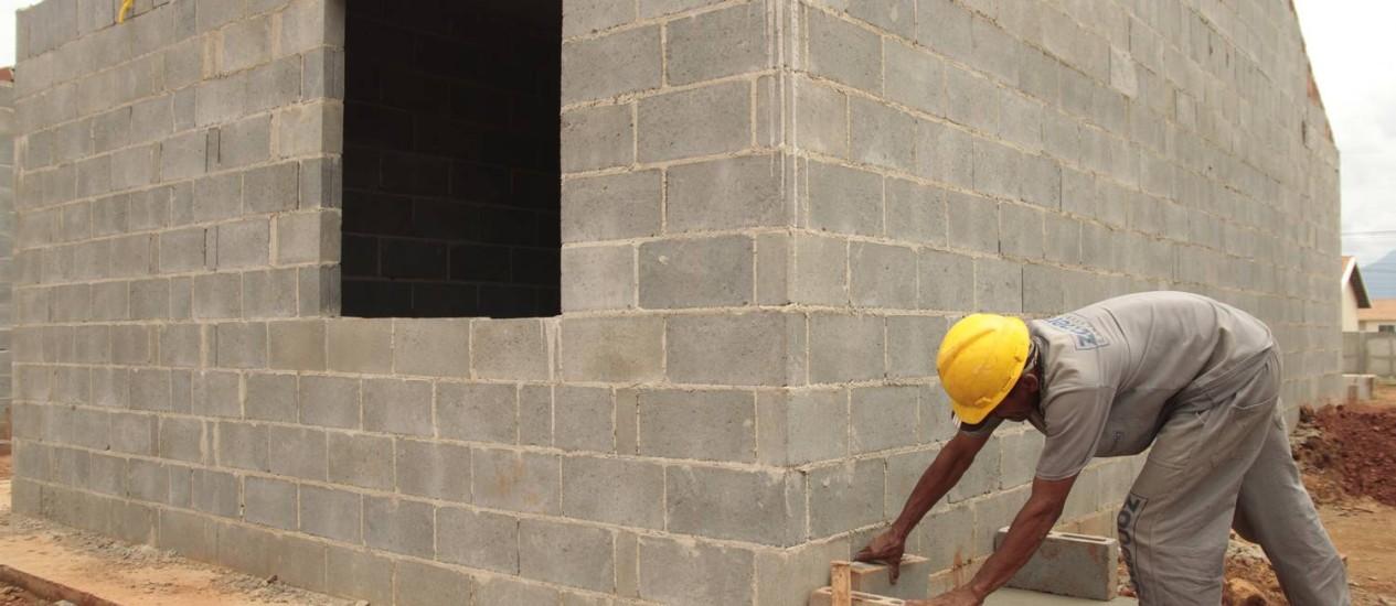 Em abril, INCC-M avança e confiança na construção piora Foto: Fernanda Dias / Agência O Globo