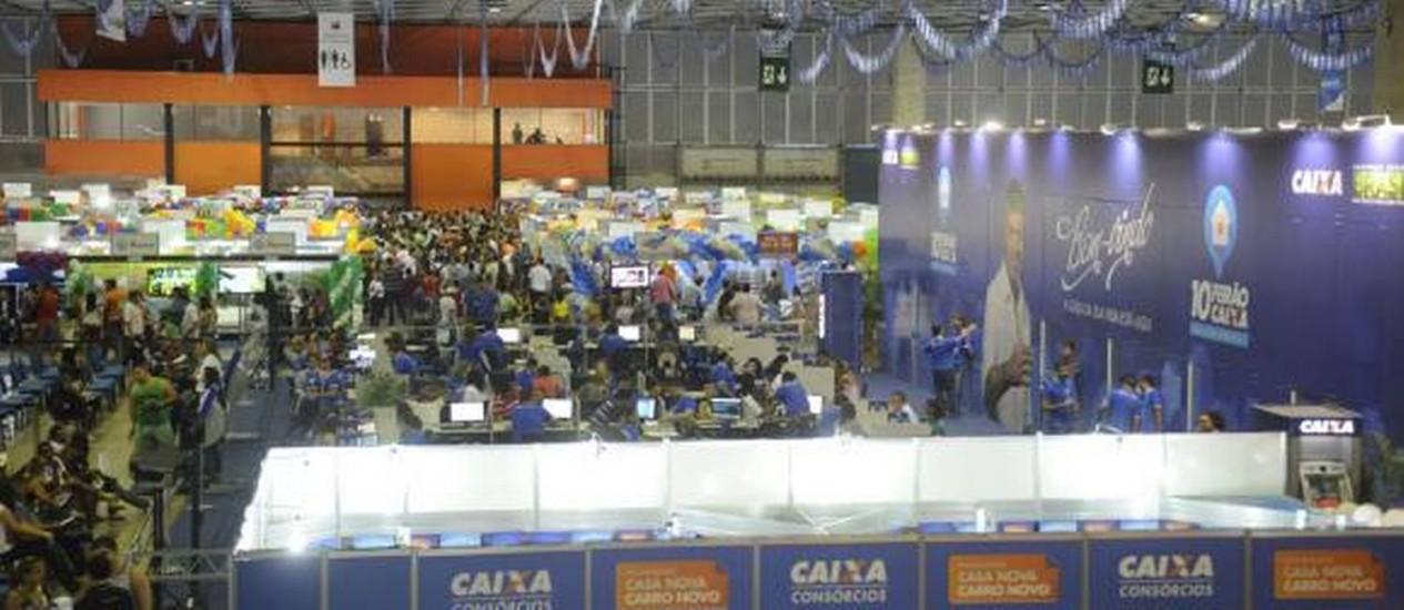 Até ontem, mais de 40 mil pessoas haviam passado pelo Rio Centro Foto: Fernando Frazão/Agência Brasil