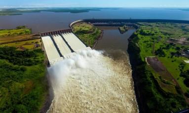 Reservatório da Usina de Itaipu Foto: Divulgação