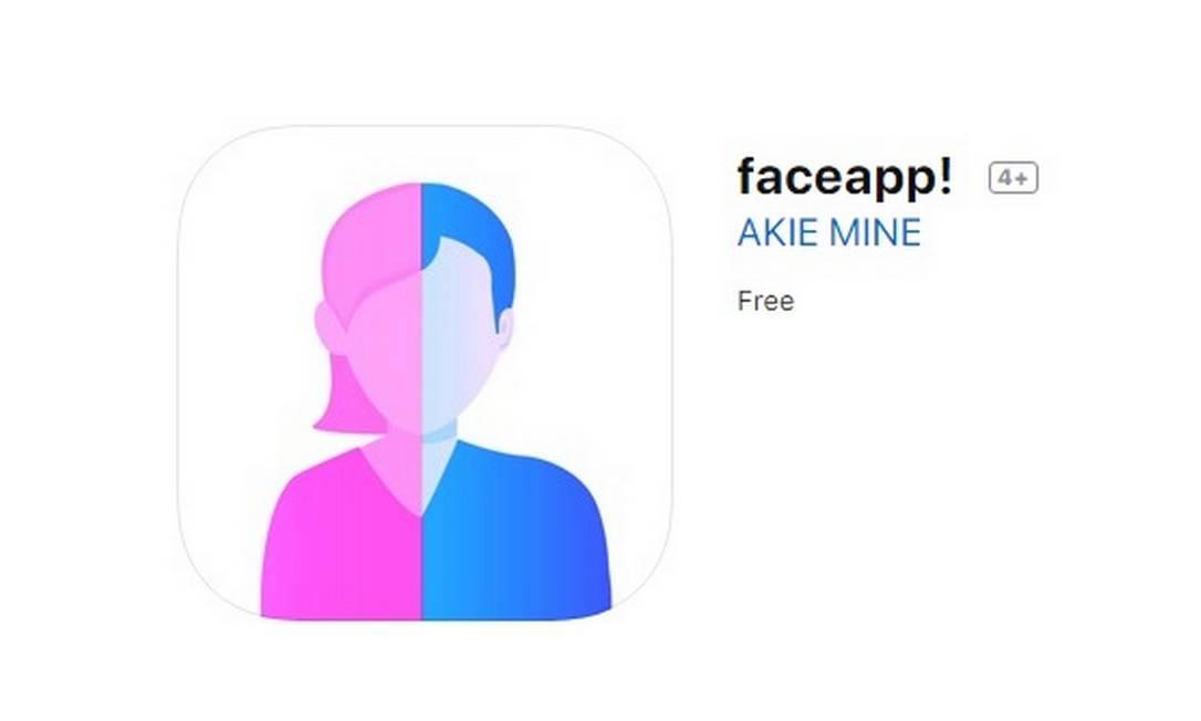 O faceapp! tem até o ícone parecido com o Face App Foto: Reprodução