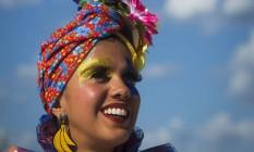 Carmen Miranda. Produção inspirada na diva, na pele da cantora Lila Foto: Guito Moreto / Agência O Globo