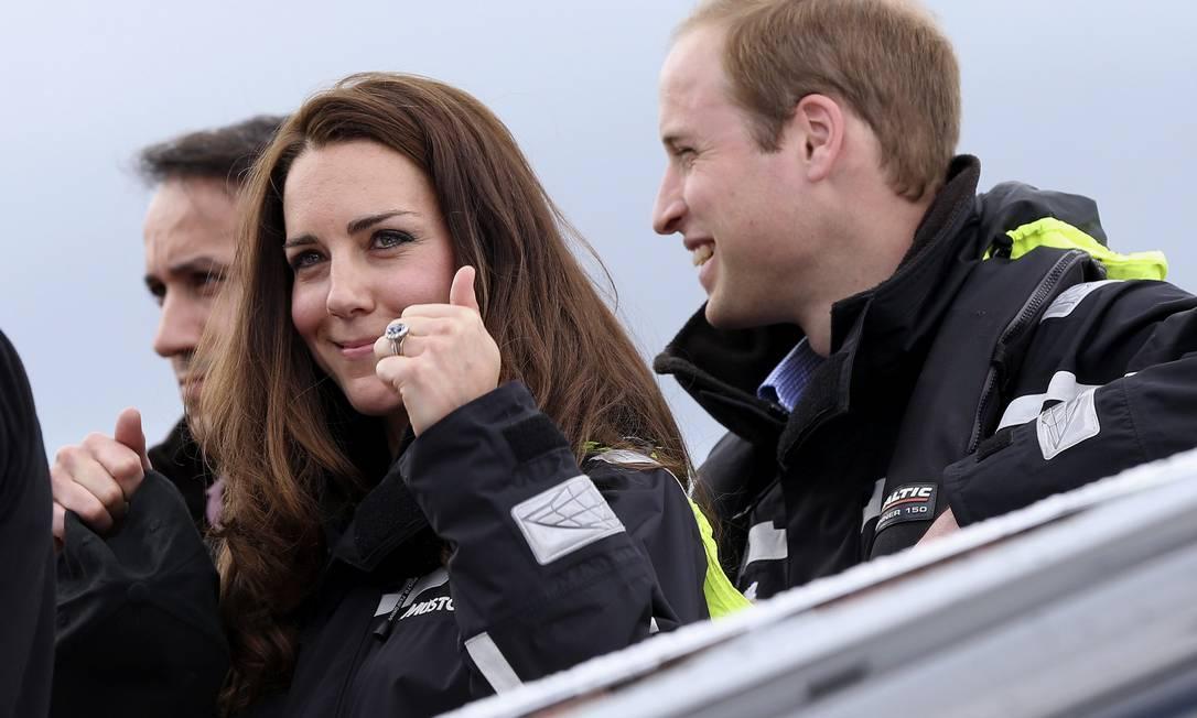 No final, Kate mostrou mesmo a que veio: ela provou a vitória, ganhando não apenas uma, mas duas corridas contra o marido POOL / REUTERS