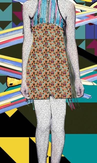 A Espaço Fashion festeja o cotidiano de um jeito otimista, com referências a celebrações do norte ao sul do país. Na coleção de verão, a marca traz novamente um foco na mulher urbana. Divulgação