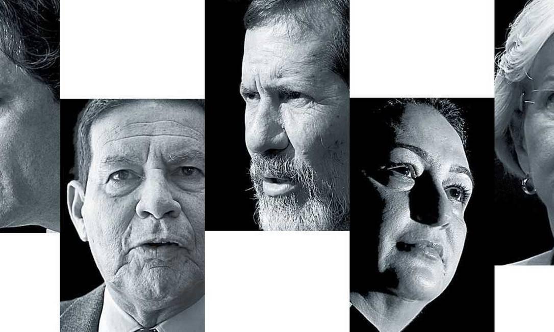 Fernando Haddad, Antonio Mourão, Eduardo Jorge, Kátia Abreu e Ana Amélia Lemos Foto: Foto: montagem