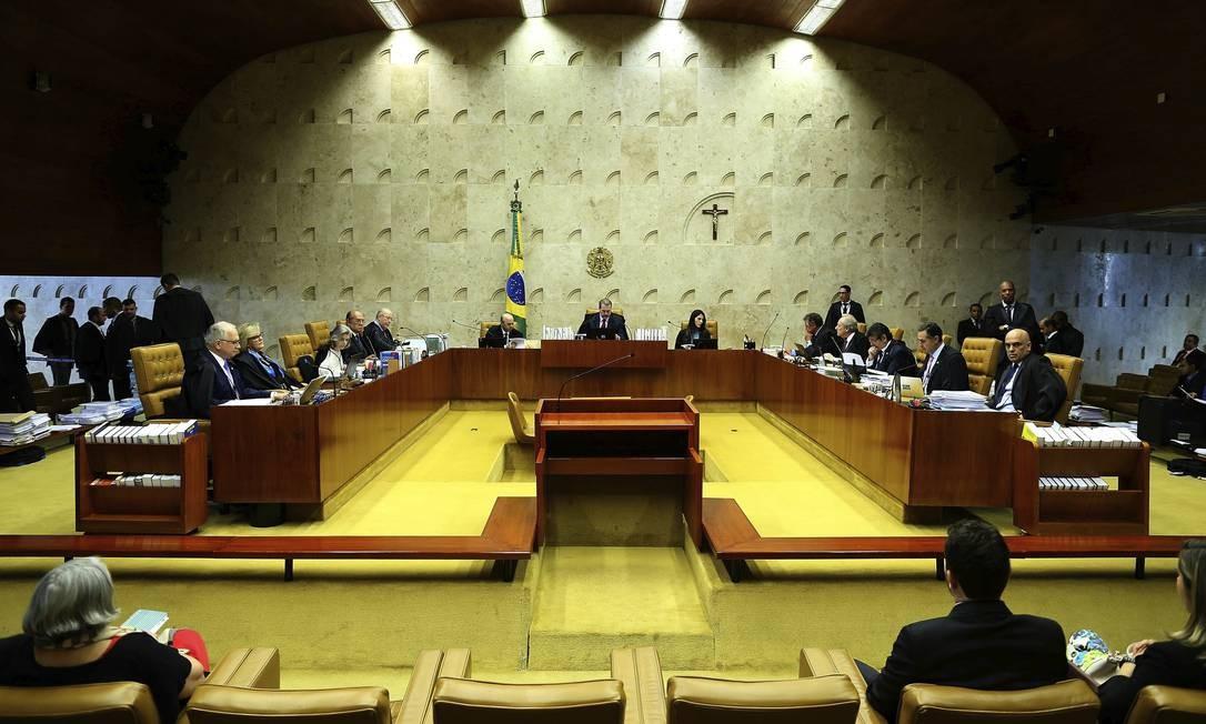 Sessão no plenário do Supremo Tribunal Federal (STF) Foto: Jorge William / Agência O Globo