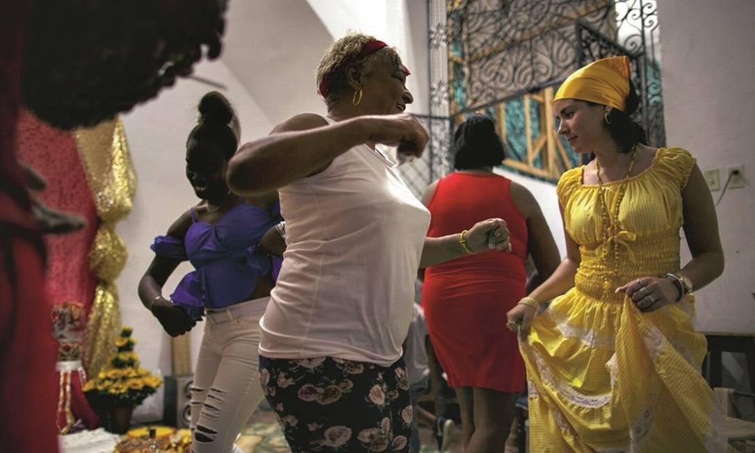 Cerimônia de santería, expressão religiosa cubana de matriz africana. Foto: Daniel Marenco / Agência O Globo