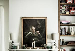 Sala da casa de Olavo de Carvalho, em Richmond, onde vive desde 2005. Foto: Jay Westcott / Polaris Images