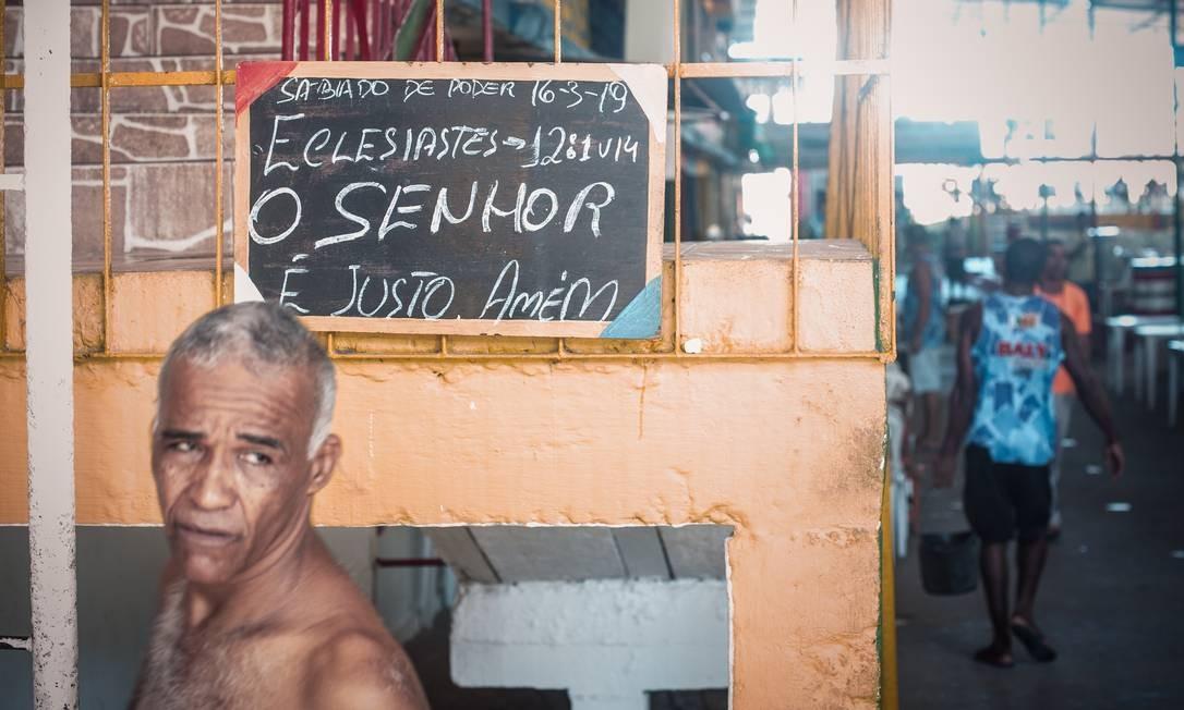 Isidório fundou projeto social pela Fundação Doutor Jesus há 27 anos Foto: Lucas Seixas / Agência O Globo