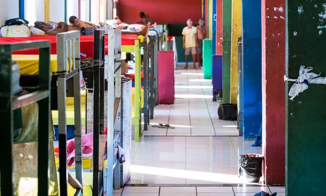 Instalações masculinas da Fundação Doutor Jesus, localizada em Candeias, Região Metropolitana de Salvador Foto: Lucas Seixas / Agência O Globo