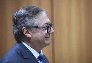 O ministro da Educação, Vélez Rodríguez, está com os dias contados em pasta que segue em conflito entre grupos Foto: Luis Fortes / MEC