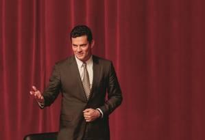 Agora ministro, Sergio Moro foi publicamente criticado por Rodrigo Maia, e seu pacote anticrime foi considerado insuficiente para melhorar a segurança pública. Foto: Paulo Lisboa / Brazil Photo Press LatinContent /Getty Images