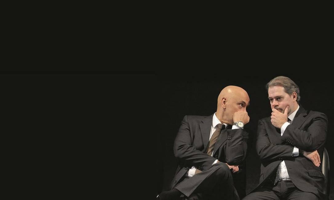 Os ministros do STF Alexandre de Moraes e Dias Toffoli são amigos e aliados. A ação da dupla gerou críticas por parte dos veteranos da Corte. Foto: Fabio Rodrigues Pozzebom / Agência Brasil