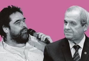 Eduardo Barata, à esquerda, e José Paulo Martins. Foto: Montagem sobre fotos de Júlio César Guimarães / Agência O Globo; e Charles Sholl / Folhapress