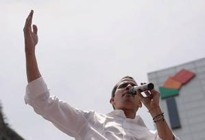 O líder da oposição venezuelana Juan Guaidó desgastou-se em sua segunda tentativa de derrubar Maduro, mas ao menos escapou da prisão. Foto: Carlos Garcia Rawlins / Reuters