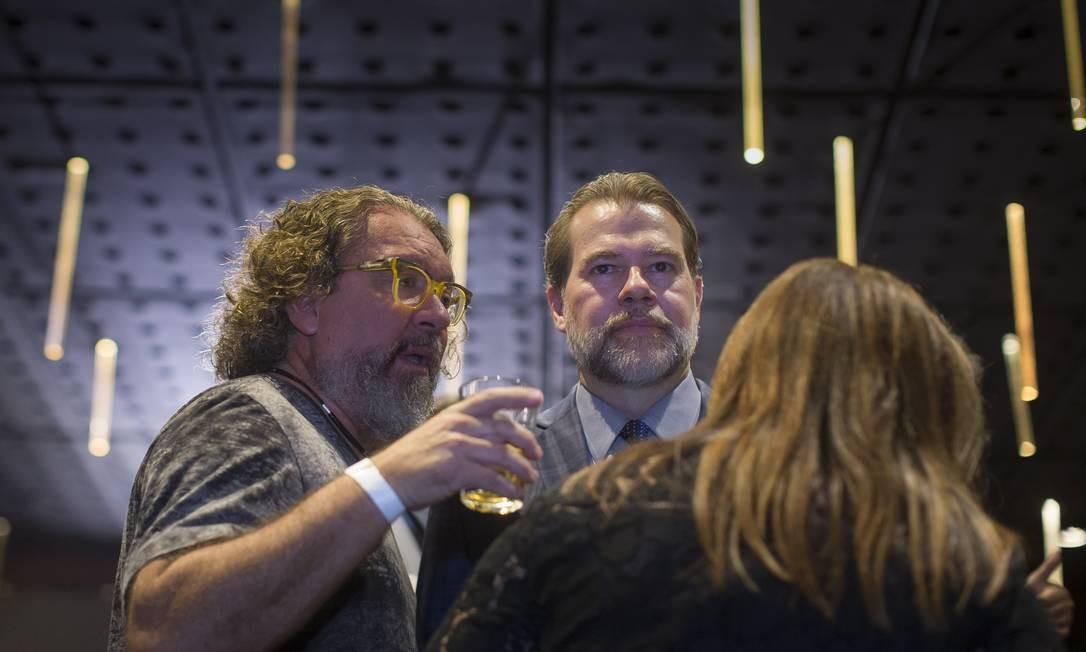 PA São Paulo ( SP ) 03/05/2019 Dias Toffoli , Gilmar Mendes participam de jantar com advogados no restaurante Rubayat . Foto: Edilson Dantas / Agencia O Globo Foto: Edilson Dantas / Agência O Globo