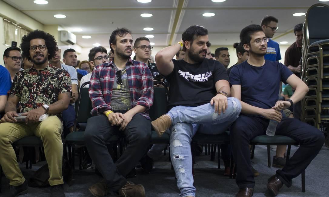 Reunião do Movimento Brasil Livre em São José dos Campos, em São Paulo. Muitas críticas ao governo Bolsonaro. Foto: Edilson Dantas / Agência O Globo